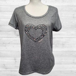 Marilyn Monroe Gray Heart T-Shirt L